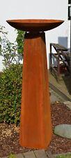 Säule Rost mit Schale Höhe kpl. ca 128cm aus Metall Edelrost Deko Set konisch