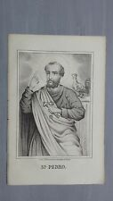 1856 Litografia: San Pedro, Simón Pedro Betsaida Simone Pietro Apostolo 29 Junio