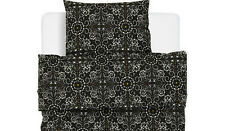IKEA Twin Duvet Quilt Cover with pillowcase NATVIDE Black White Twin Brand New
