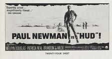 HUD original 1963 large 24 sheet BILLBOARD movie poster PAUL NEWMAN