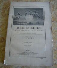 NATURE REVUE DES SCIENCES  10ème ANNEE 1882 1ER SEMESTRE GASTON TISSANDIER