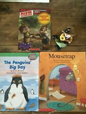 SET OF 3 BOOKS: THE PENGUINS' BIG DAY+ MOUSETRAP+ALVIN AND CHIPMUNK: SIGHT WORDS