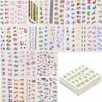 50 Sheets Nail Art Stickers Mixed Watermark Cartoon Tips Water Transfer Decals