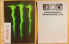 adesivi MONSTER ENERGY DRINK originali stickers decals snowboard sci Moto Bmx