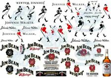 Jim Beam & Johnnie Walker Whiskey Pack | Model Car Decals in all popular scales