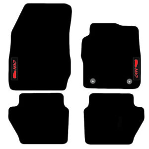 Mats for Ford Fiesta MK7 2012 to 2017 Tailored Carpet Car Floor logo (2 Clips)
