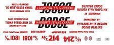 Harrop'S Flying Carpet Dodge 1/64th Ho Scale Slot Car Waterslide Decals