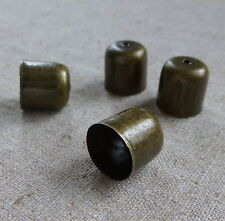 Pack de 20 Bronze Cord end tips 10x11mm Bead Caps petits