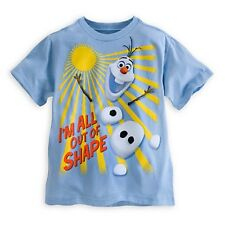 """DISNEY STORE FROZEN OLAF TEE NWT SHAPE SHIFTER BOYS SIZE 7/8 """"ALL OUT OF SHAPE"""""""