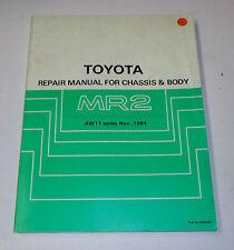 Workshop Manual / Werkstatthandbuch Toyota MR2 / MR 2 Chassis / Body, St.11/1984