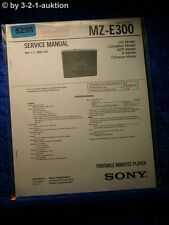 Sony Service Manual MZ E300 Mini Disc Player (#5298)