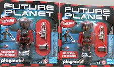 Playmobil * 2 x  Figuren  Darkster + Waffe + Scanner * Future Planet  * Neu