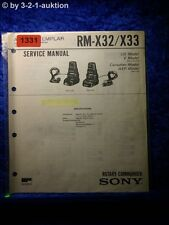 Sony Service Manual RM X32 / X33 Rotary Commander (#1331)