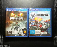 PS Vita Games Bundle - PSVITA *NEW/SEALED Killzone Mercenary & Freedom Wars
