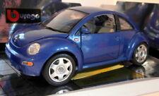 Burago 1/18 Scale Diecast - 3392 Volkswagen New Beetle 1998 blue