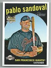 2 ct Pablo Sandoval 2008 Topps Heritage RC- World Series Champs Giants - Red Sox