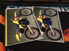 86 SUZUKI RM Dirt Bike Poster 2 pak  vintage motocross motorcycles 125 & 250