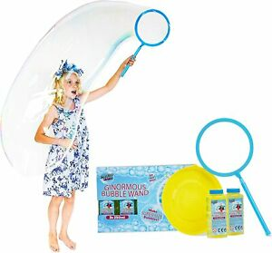 Bubble Wand Giant Bubbles Solution Kit Outdoor Kids Big Toy Fun Garden Set New