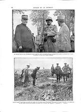 WWI Maréchal Joffre Général Roques & George V British Army Tommies ILLUSTRATION