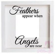 FEATHERS APPEAR WHEN ANGELS ARE NEAR VINYL DECAL STICKER FOR IKEA RIBBA BOXFRAME