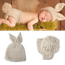 Baby Fotoshooting Fotografie Strick Kostüm Hut Hose Häkelkostüm Progeborene D3T7