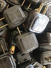 22 Eagle Brown Bakelite 3-Way Plug Adapter Electrical Vtg Art Deco 2 Prong Old
