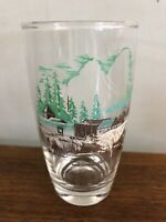 First Dairy Cattle in Oregon Territory Fort Vancouver Vtg Drinking Glass Tumbler