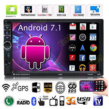 """7"""" 2DIN Quad Core 4G WIFI Double 1080P Bluetooth Car Radio Stereo MP5 GPS Player"""
