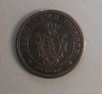 1869 B - Königreich SACHSEN - Scheide Münze -  Erhalt VZ