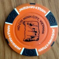 newest Vietnam Harley Davidson poker chip, orange-black, Sai Gon Ho Chi Minh