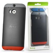 Original HTC Schutzhülle Case grau rot Double Dip Hardshell Cover für HTC One M8