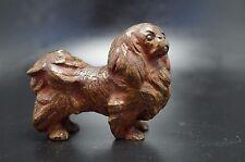 Vtg Cold Painted Bronze Pekingese Dog