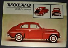 1962-1963 Volvo 544 Sales Brochure Sheet Excellent Original