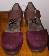 OTOT Black Cherry Leather Mary Jane Wedge Shoes-Size 8.5-New