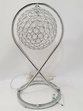 Elegant Bling Chrome Silver  LED Suspended Globe Style Table Lamp 44cm