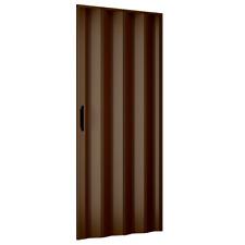 Porta a Soffietto da Interno 83x214 cm in PVC Mod. Extra Standard color Noce
