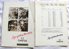 Omega Vintage 1989 Catalogue Seamaster,Constellation,Speedmaster+Price List,Rare