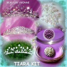 TIARA KIT CRYSTALS PEARLS WIRE BANDS INSTRUCTIONS / WITHOUT TOOLS