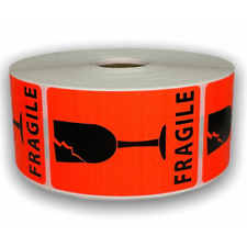 Brred Fragile Broken Glass Shipping Warning Stickers 2x3 1 Rl 300 Labels