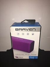 Braven 705 Portable Wireless Bluetooth STEREO Speaker for iPhone Android- Purple
