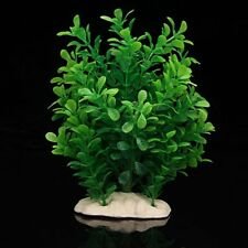 Green Fake Plastic Water Plants for Fish Tank Aquarium Ornament New