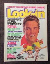 1977 LOOK-IN UK Magazine #45 FN+ ABBA - Elvis Presley Pin-Up