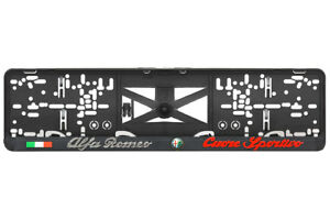 Alfa Romeo 2xECHTE 3D-Effekt Kennzeichenhalter Nummernschildhalter Sportivo