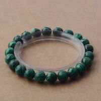 Fashion 6MM 8MM 10MM Men Women Natural Stone Green Malachite Bracelets Jewelry