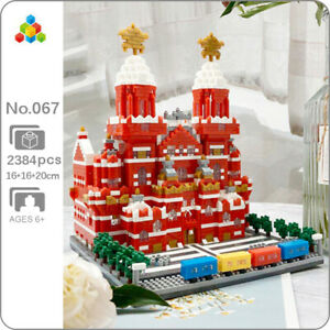 YZ World Architecture Moscow Red Square Museum Mini Diamond Blocks Building Toy