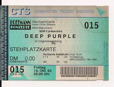 DEEP PURPLE Used Free Ticket Mannheim 15.10.1993