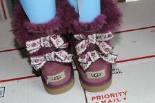 Ugg Australia Big Girl's Purple Bailey Bow Ii Boots Size 3 (1092356K)