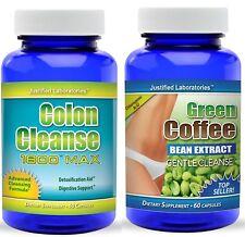 Pure Green Coffee Bean Cleanse Super Colon Cleanse Detox Weight Loss Diet Pills