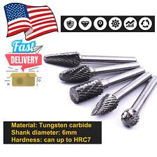 5pc Rotary Burr Set Head Tungsten Carbide Burrs Die Grinder Bit Tool 14 Shank