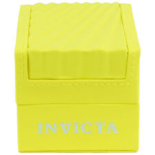 Invicta Yellow Classic Wave Empty Watch Box Case Watch Display